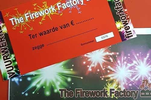 Firework Factory Cadeaubon